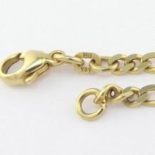 Figaro guld halskæde 14 karat - Brugt figaro halskæde 585