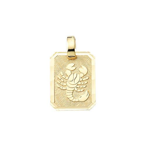 Skorpion guld vedhæng.