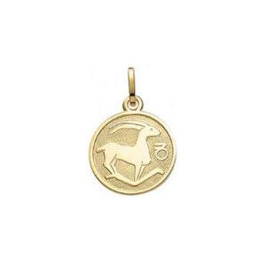 Stenbuk Guld vedhæng med stjernetegnet Stenbukken