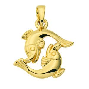 Stjernetegn Guld vedhæng fisk charm i guld med stjernetegnet fisken