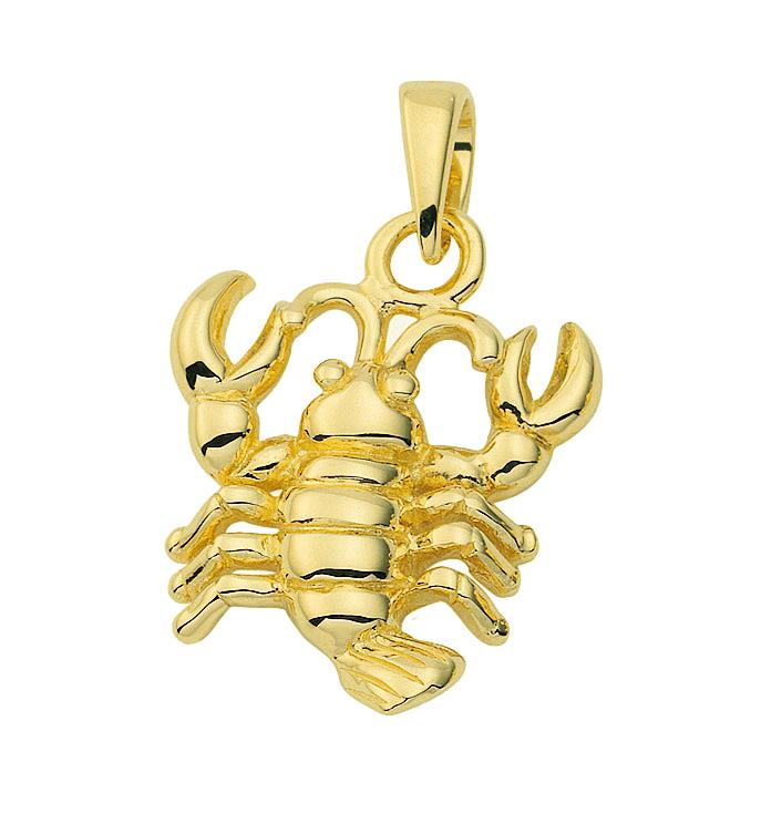 Stjernetegn Guld vedhæng krebs charm i guld med stjernetegnet krebsen