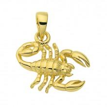 Stjernetegn Guld vedhæng skorpion charm i guld med stjernetegnet skorpionen