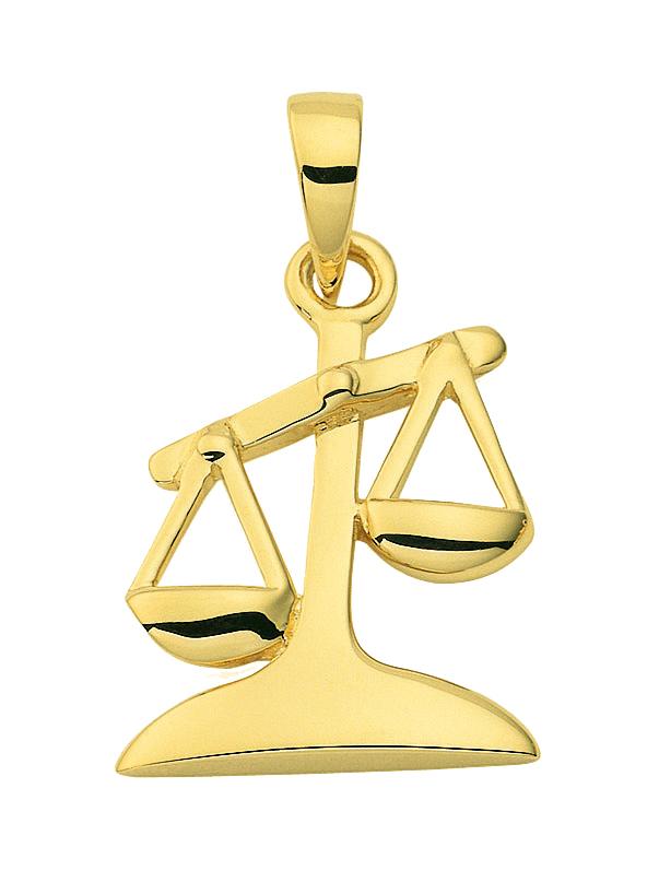 Stjernetegn Guld vedhæng vægt charm i guld med stjernetegnet vægten