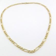 9 karat Figaro guld halskæde UNISEX