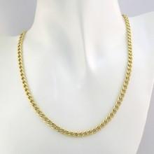 Billig Panser Guld halskæde i 8 karat til mænd og kvinder brugt panserkæde
