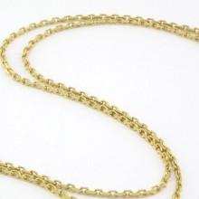 Brugt ankerkæde i guld med fjederlås. Billig Guld halskæde til kvinder i ankerkæde design