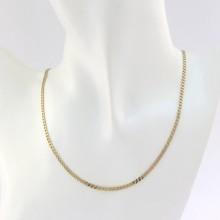Brugt guld panser halskæde til salg