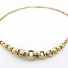 Designer guld halskæde 14 karat.