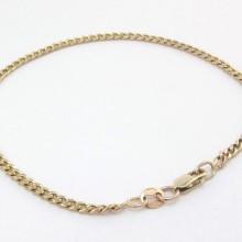 8 karat panser guld armbånd 19,8 Cm
