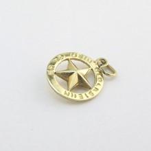 Charm lykkestjerne 14 karat guld - Brugte guld charms til salg