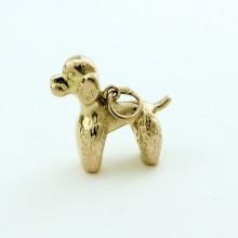 Charm puddel hund 8 karat guld vedhæng - brugte guld charms