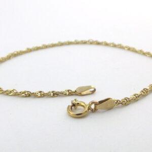 Singapore Guld armbånd 8 karat. Brugt guld armbånd til salg