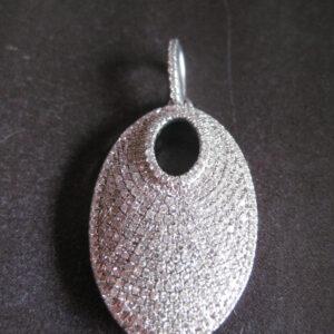 925 sølv vedhæng med zirkoner. Billig sølvhalskæde i sterling sølv 925 med zirkoner