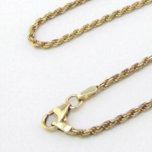 Bjørn Borg guld halskæde 45 Cm UNISEX Brugt guldkæde til salg