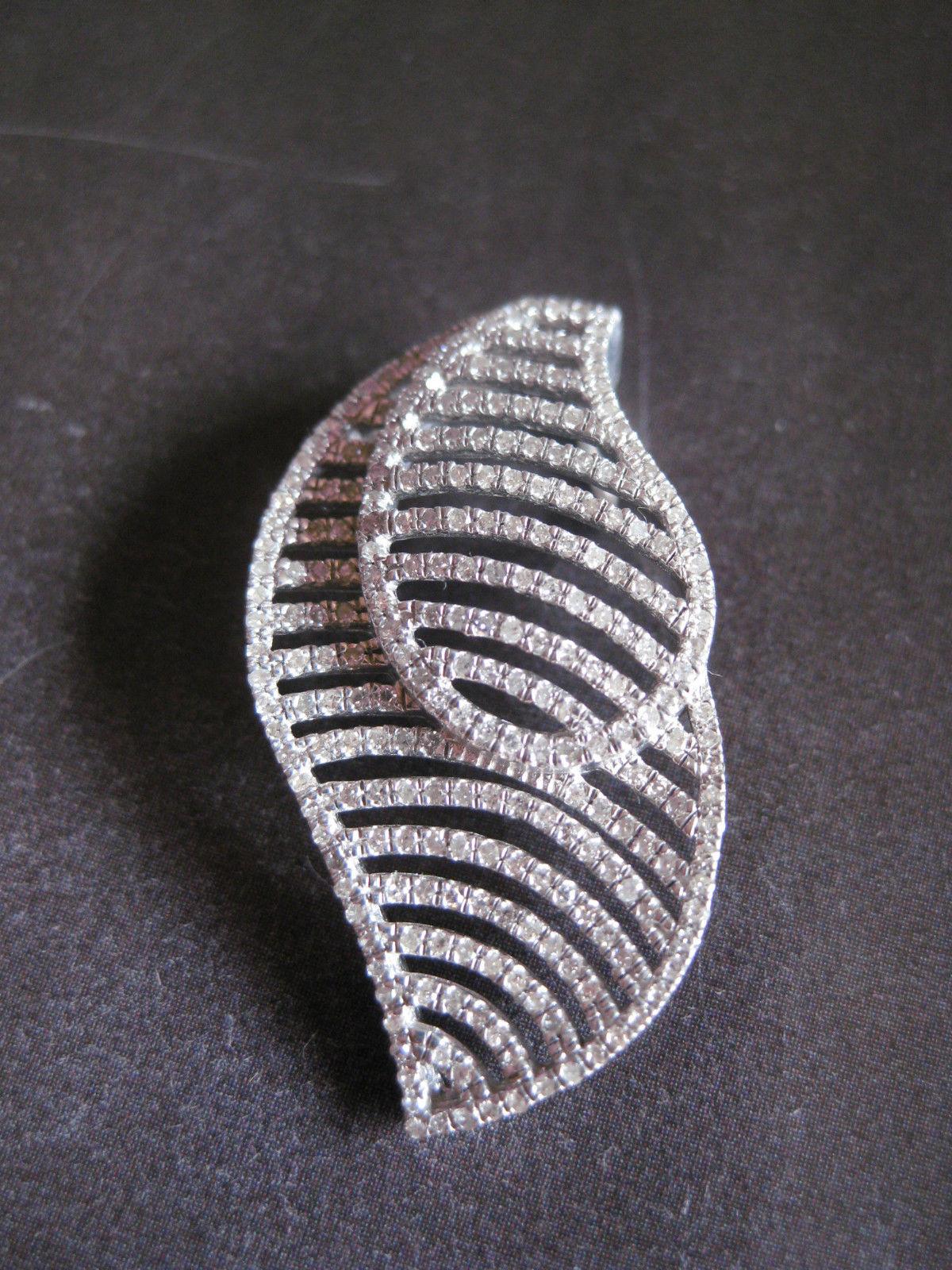 Designer smykke i sterling sølv med zirkoner - brugt sølv vedhæng