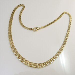 Billig Bismark guld halskæde i 8 karat. Brugt guldkæde i Bismark design til salg