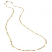 Figaro guldkæde 8karat 1,8mm. Guldhalskæde i figaro design guld 333