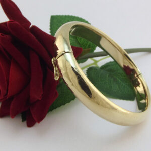 8K Antik guld armring i solid kvalitet