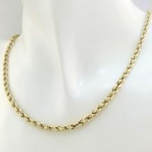 Feminin vintage guld halskæde 42,5 cm