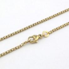 Rund guld halskæde 45 cm - 8 karat