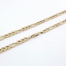 Brugt Figaro 14 karat guld halskæde UNISEX - billig figaro guldkæde til mænd