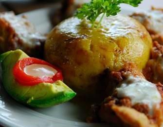 Caribisk mad - opskrift på Mofongo. Caribiske mad opskrifter på hovedret aftensmad