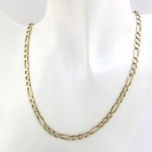 Figaro 8 karat guld halskæde 52 cm. UNISEX