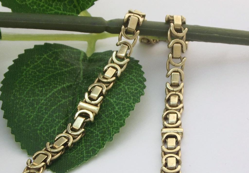 Guld armlænke i unisex design - Brugt guld armlænke