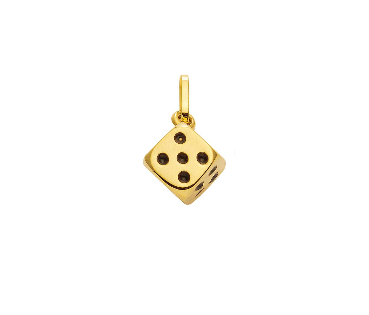 Guld-terning 14 karat Vedhæng med terning til salg.Køb billige guld vedhæng og guldsmykker online