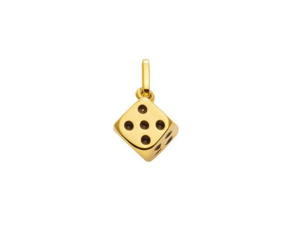 Guld-terning 8 karat Vedhæng med terning til salg.Køb billige guld vedhæng og guldsmykker online