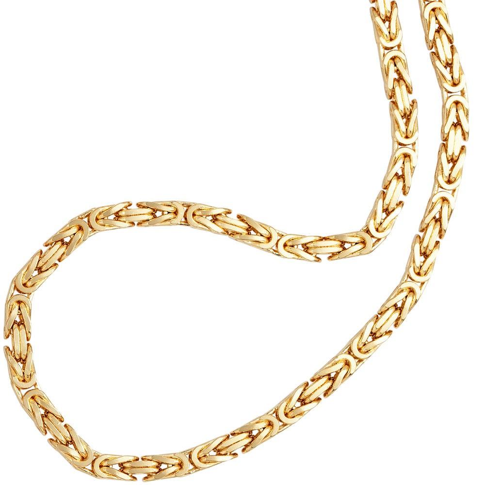 Kongekæde i guld 333 2.5mm. Guldhalskæde i kongekæde design 8 karat guld.