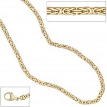Kongekæde i guld 585 2.5mm. halskæde i kongekæde design 14 karat guld