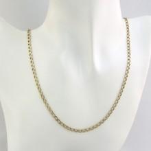 Lang panser guld halskæde 50 cm til mænd og kvinder