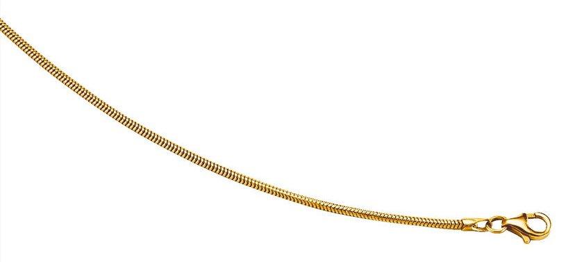 Slangekæde i guld 14 karat 2,5mm. Guld halskæde i slange design 585