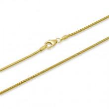 Slangekæde i guld 8 karat 2,5mm. Guld halskæde i slange design guld 333