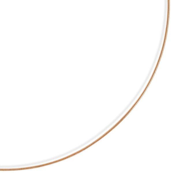 Slangekæde med fjederring i 8 karat guld 0,9 mm. Guldhalskæde slangekæde