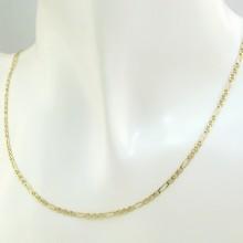 Fin figaro guld halskæde i 14 karat. Brugt figaro kæde til salg