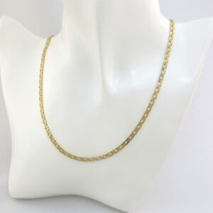 Dobbelt panser guld halskæde 50 cm Unisex. Brugt guldkæde til mænd