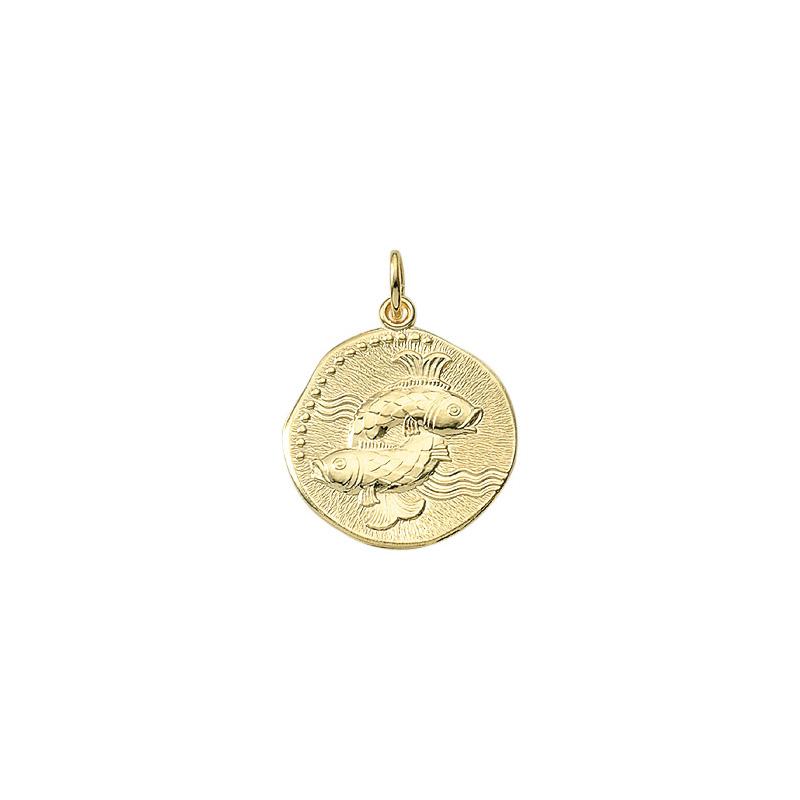 Fisken guld vedhæng - stjernetegns smykke med fiskens stjernetegn