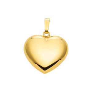 Guld hjerte vedhæng 8 karat. Smykke vedhæng guld hjerte udført i 333 karat