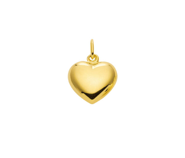 Guld hjerte vedhæng til børn 14 karat guldhjerte til salg. køb gulld vedhæng og billige guldsmykker