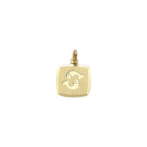 Guld stjernetegn Fisk. Billigt smykke med stjernetegnet fisken til mænd og kvinder.