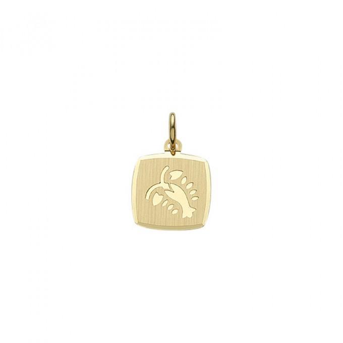 Guld stjernetegn Krebs. Billigt smykke med stjernetegnet krebsen til mænd og kvinder.