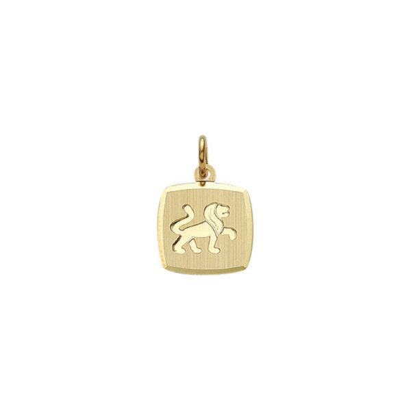 Guld stjernetegn Løve. Billigt smykke med stjernetegnet løven til mænd og kvinder.