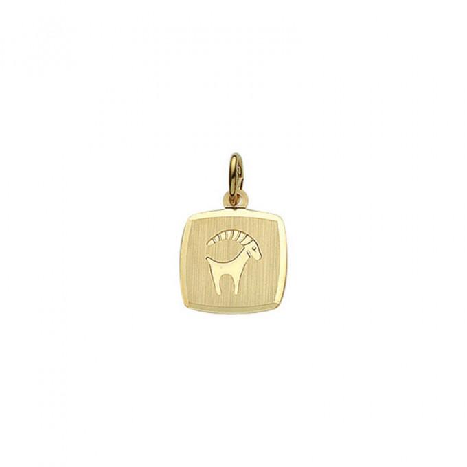 Guld stjernetegn Stenbuk. Billigt smykke med stjernetegnet stenbukken til mænd og kvinder