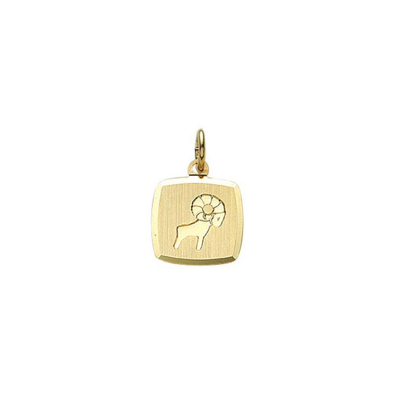 Guld stjernetegn Vædder. Billigt smykke med stjernetegnet vædderen til mænd og kvinder. .