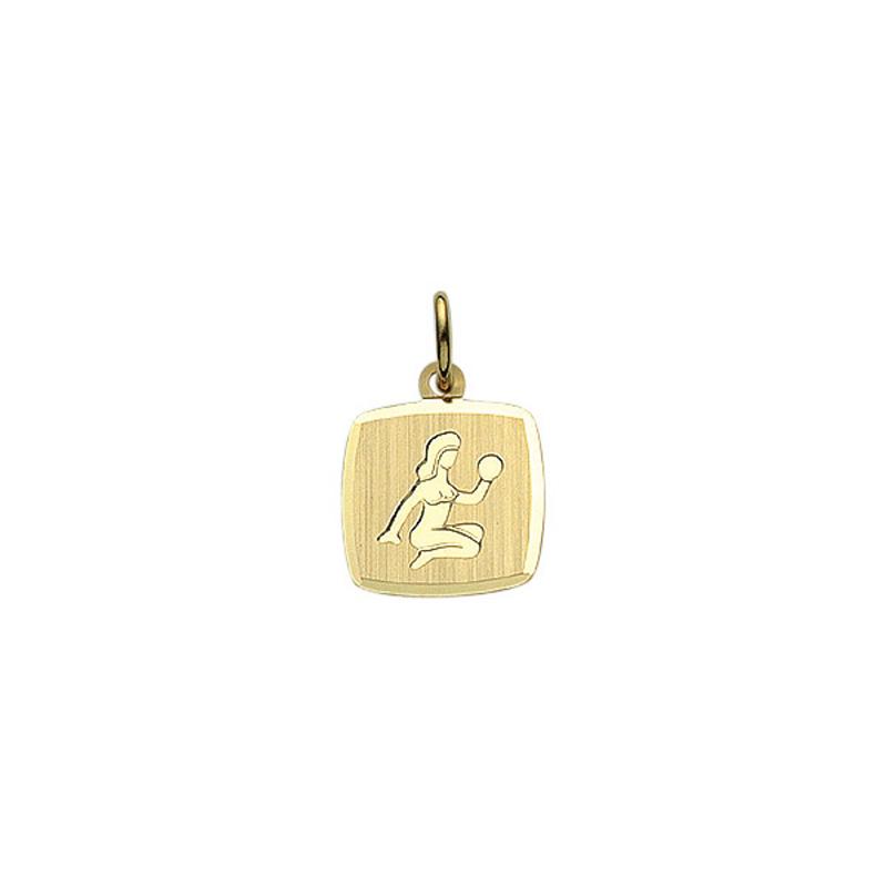 Guld stjernetegn jomfru. Billigt smykke med stjernetegnet jomfruen til mænd og kvinder.