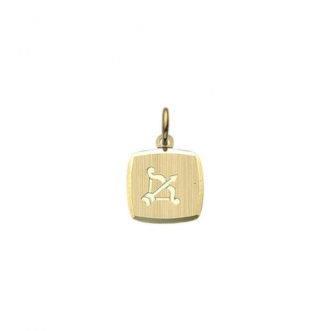 Guld stjernetegn skytte. Billigt smykke med stjernetegnet skytten til mænd og kvinder.