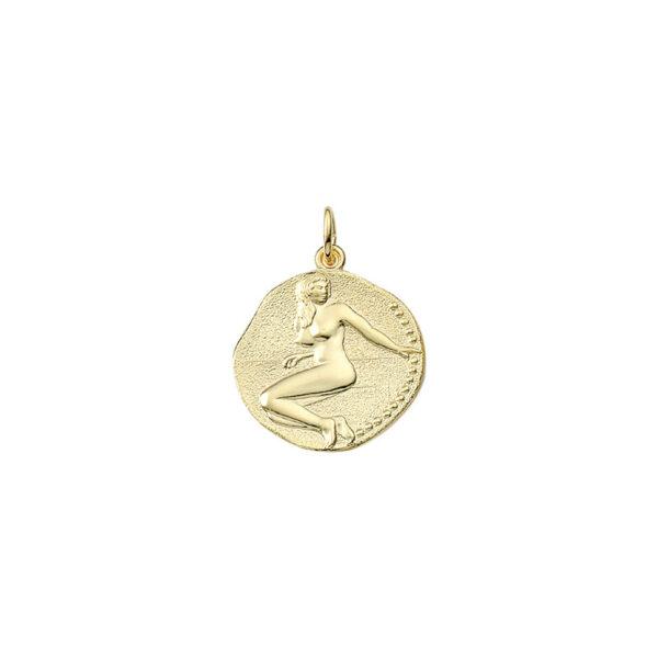 Jomfruen guld vedhæng smykke med stjernetegn til salg - Billige stjernetegns smykker