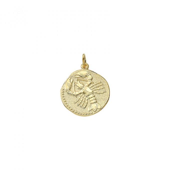 Krebsen guld vedhæng smykke med stjernetegn til salg - Billige stjernetegns smykker